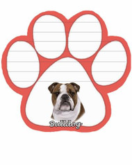 Bulldog Dog Paw Magnetic Note Pad