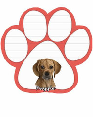 Puggle Dog Paw Magnetic Note Pad