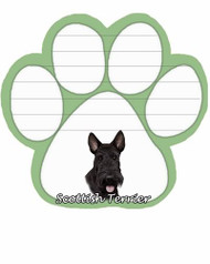 Scottie Dog Paw Magnetic Note Pad