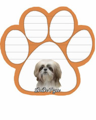 Shih Tzu Tan and White Dog Paw Magnetic Note Pad