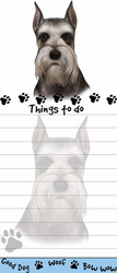 Cropped Schnauzer Magnetic Sticky Note Pad