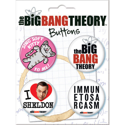 The Big Bang Theory 4 Piece Button Set - 82396