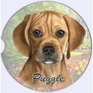 Puggle Absorbent Car Cup Coaster