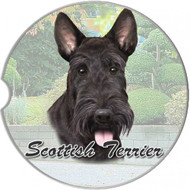 Scottie Absorbent Car Cup Coaster