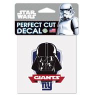"New York Giants Darth Vader 4""x4"" Team Logo Decal"
