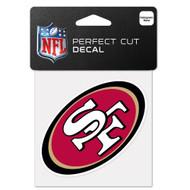 "San Francisco 49ers 4""x4"" Team Logo Decal"
