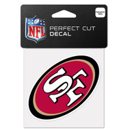 "San Francisco 49ers 4""x4"" Team Logo Decal"