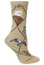 Raptor Khaki Ladies Socks