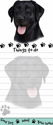 Black Labrador Magnetic Sticky Note Pad