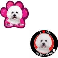 Bundle: Two (2) Bichon Frise Magnets