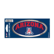 "University of Arizona 3"" x 7"" Chrome Decal"