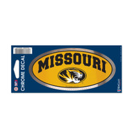 "University of Missouri 3"" x 7"" Chrome Decal"