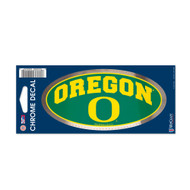"University of Oregon 3"" x 7"" Chrome Decal"