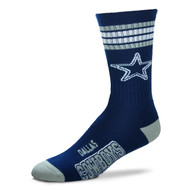 Dallas Cowboys Large '4 Stripe' Deuce Socks