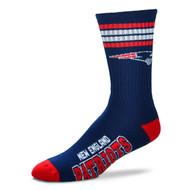 New England Patriots Large '4 Stripe' Deuce Socks