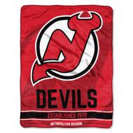 "New Jersey Devils 45""x60"" Super Plush Fleece Blanket"