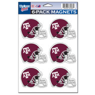 Texas A&M University 6-Pack Magnet Set