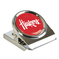 University of Nebraska Metal Magnet Clip