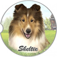Sheltie Absorbent Car Cup Coaster