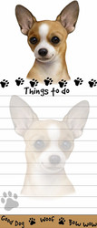 Tan Chihuahua Magnetic Sticky Note Pad