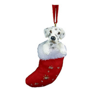 Dalmatian Stocking Christmas Ornament