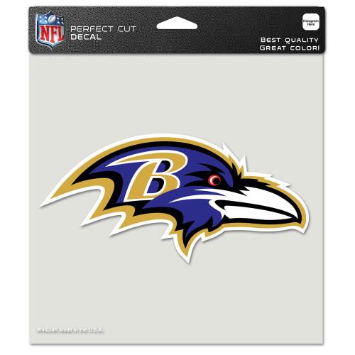 """Baltimore Ravens 8""""x8"""" Team Logo Decal"""