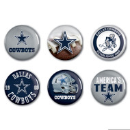 Dallas Cowboys Buttons 6-Pack