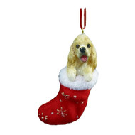 Santa's Little Pals Cocker Spaniel Stocking Christmas Ornament
