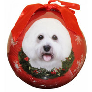 Bichon Frise Christmas Ball Ornament