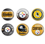 Pittsburgh Steelers Buttons 6-Pack