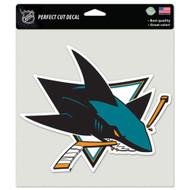 """San Jose Sharks 8""""x8"""" Team Logo Decal"""