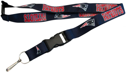 New England Patriots Lanyard Keychain