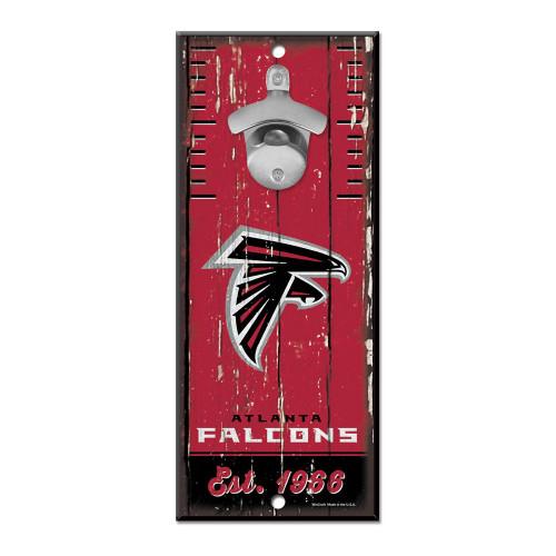 Atlanta Falcons Wooden Wall Mounted Bottle Opener