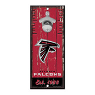 Atlanta Falcons Wooden Wall Mounted Bottle Opener