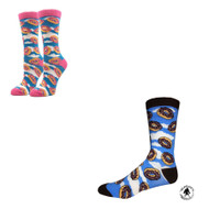 Bundle 2 Items: Raining Doughnuts One Size Fits Most Crew Socks