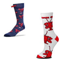 Bundle 2 Items: Lobster on White and on Blue Medium Socks
