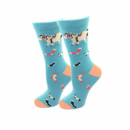 Bulldog One Size Fits Most Dusty Blue Ladies Crew Socks