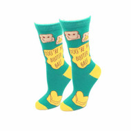 Butter Half One Size Fits Most Aqua Ladies Crew Socks