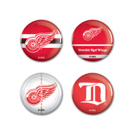 Detroit Red Wings Buttons 4-Pack