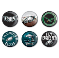 Philadelphia Eagles Buttons 6-Pack