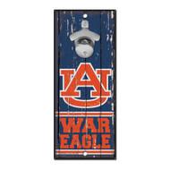 Auburn University Wooden Wall Mounted Bottle Opener