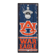 Auburn University Wooden Wall Mounted Bottle Opener