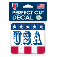 "U.S.A. 4""x4"" Perfect Cut Decal"