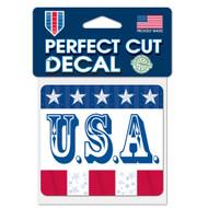 """U.S.A. 4""""x4"""" Perfect Cut Decal"""