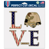 "USA LOVE Homefront Girl 8""x8"" Perfect Cut Decal"