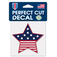 "USA Star Flag 4""x4"" Perfect Cut Decal"