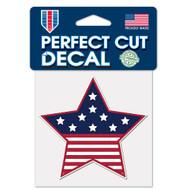"USA Star Flag 4""x4"" Perfect Cut Decal"