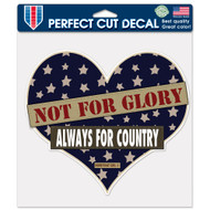 "USA Not For Glory Always Heart Homefront Girl 8""x8"" Perfect Cut Decal"