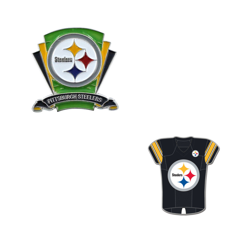 55539ccc2 Pittsburgh Steelers Logo Field Pin and Jersey Pin - Sunset Key Chains