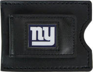 New York Giants Leather Money Clip and Card Case